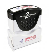 """Accustamp2 """"Posted"""" Shutter Stamp with Microban, Red/Blue Ink, 1-5/8"""" x 1/2"""""""