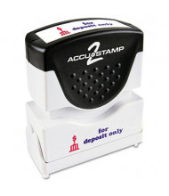 "Accustamp2 ""For Deposit Only"" Shutter Stamp with Microban, Red/Blue Ink, 1-5/8"" x 1/2"""