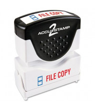 "Accustamp2 ""File Copy"" Shutter Stamp with Microban, Red/Blue Ink, 1-5/8"" x 1/2"""