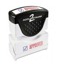 "Accustamp2 ""Approved"" Shutter Stamp with Microban, Red/Blue Ink, 1-5/8"" x 1/2"""