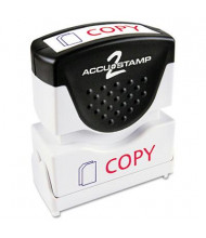 "Accustamp2 ""Copy"" Shutter Stamp with Microban, Red/Blue Ink, 1-5/8"" x 1/2"""