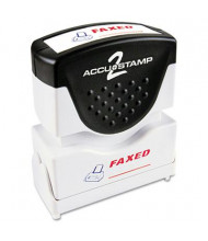"Accustamp2 ""Faxed"" Shutter Stamp with Microban, Red/Blue Ink, 1-5/8"" x 1/2"""