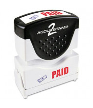 "Accustamp2 ""Paid"" Shutter Stamp with Microban, Red/Blue Ink,1-5/8"" x 1/2"""