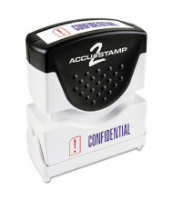 "Accustamp2 ""Confidential"" Shutter Stamp with Microban, Red/Blue Ink, 1-5/8"" x 1/2"""