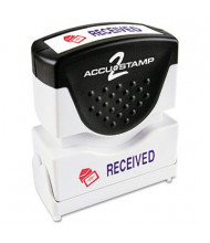 """Accustamp2 """"Received"""" Shutter Stamp with Microban, Red/Blue Ink, 1-5/8"""" x 1/2"""""""