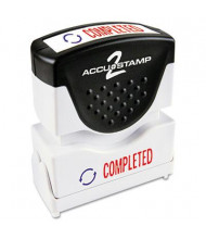 """Accustamp2 """"Completed"""" Shutter Stamp with Microban, Red/Blue Ink, 1-5/8"""" x 1/2"""""""