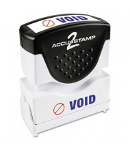"Accustamp2 ""Void"" Shutter Stamp with Microban, Red/Blue Ink, 1-5/8"" x 1/2"""