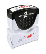 """Accustamp2 """"Draft"""" Shutter Stamp with Microban, Red/Blue Ink, 1-5/8"""" x 1/2"""""""