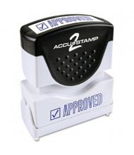 "Accustamp2 ""Approved"" Shutter Stamp with Microban, Blue Ink, 1-5/8"" x 1/2"""