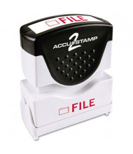 "Accustamp2 ""File"" Shutter Stamp with Microban, Red Ink, 1-5/8"" x 1/2"""