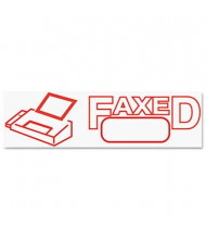 "Accustamp2 ""Faxed"" Shutter Stamp with Microban, Red Ink, 1-5/8"" x 1/2"""