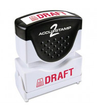 """Accustamp2 """"Draft"""" Shutter Stamp with Microban, Red Ink, 1-5/8"""" x 1/2"""""""