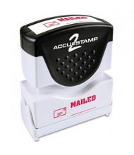 "Accustamp2 ""Mailed"" Shutter Stamp with Microban, Red Ink, 1-5/8"" x 1/2"""