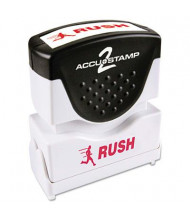"""Accustamp2 """"Rush"""" Shutter Stamp with Microban, Red Ink, 1-5/8"""" x 1/2"""""""