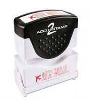 "Accustamp2 ""Air Mail"" Shutter Stamp with Microban, Red Ink, 1-5/8"" x 1/2"""