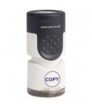 "Accustamp ""Copy"" Pre-Inked Round Stamp with Microban, Blue Ink, 5/8"""