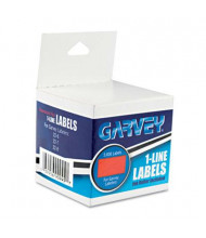 "Garvey 7/16"" x 13/16"" One-Line Pricemarker Labels, Red, 3600/Box"