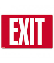 "Cosco 12"" W x 8"" H Glow-In-The-Dark Exit Sign"