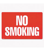 "Cosco 12"" W x 8"" H 2-Sided No Smoking Sign"