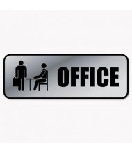 "Cosco 9"" W x 3"" H, Office, Metal Office Sign"