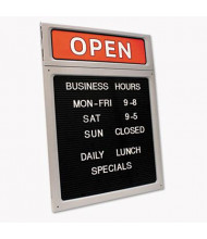 """Cosco 15"""" W x 20.5"""" H Customizable Business Hours Sign"""