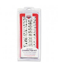 "COSCO 3/4"" H White Helvetica Character Kit for Letter Directory Boards, 258 Pieces"