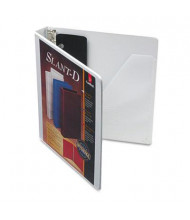 "Cardinal 1"" Capacity 8-1/2"" x 11"" Slant-D Ring SuperStrength View Binder, White"