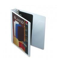 "Cardinal 1-1/2"" Capacity 8-1/2"" x 11"" Slant-D Ring SuperStrength View Binder, White"