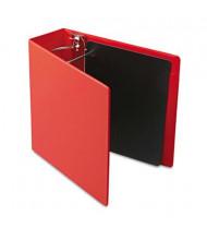"Cardinal 4"" Capacity 8-1/2"" X 11"" SuperStrength Slant-D Non-View Binder, Red"