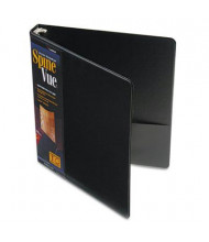 "Cardinal 1"" Capacity 8-1/2"" X 11"" SpineVue Locking Round Ring Binder, Black"
