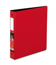 """Cardinal 1-1/2"""" Capacity 8-1/2"""" X 11"""" EasyOpen Locking Non-View Binder with Label Holder, Red"""