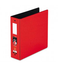 "Cardinal 3"" Capacity 8-1/2"" X 11"" EasyOpen Locking Non-View Binder with Label Holder, Red"