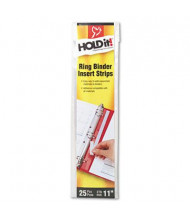 "Cardinal 3/4"" Width HOLDit! Self-Adhesive Multi-Punched Binder Insert Strips, 25 Inserts"