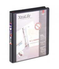 "Cardinal 1"" Capacity 8-1/2"" x 11"" Slant-D Ring XtraLife View Binder, Black"