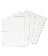 "Cardinal 8-1/2"" x 11"" Untabbed Ring Binder Double Pocket Dividers, White, 5/Pack"