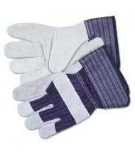 MCR Safety Memphis Men's Large Split Leather Palm Gloves, Gray