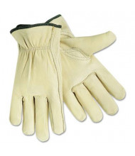 MCR Safety Memphis X-Large Full Leather Cow Grain Gloves, Beige