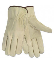 MCR Safety Memphis Economy Large Leather Driver Gloves, Cream