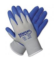 MCR Safety Memphis Flex Small Seamless Nylon Knit Latex Gloves, Blue/Gray