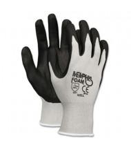 MCR Safety Memphis Economy Medium Foam Nitrile Gloves, Gray/Black, 12 Pairs