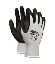 MCR Safety Memphis Economy X-Large Foam Nitrile Gloves, Gray/Black, 12 Pairs