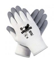 MCR Safety Memphis Ultra Tech Medium Foam Nylon Knit Gloves, White/Gray, Pair