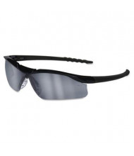 MCR Safety Crews Dallas Wraparound Safety Glasses, Black Frame with Gray Indoor/Outdoor Lens
