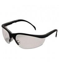 MCR Safety Crews Klondike Safety Glasses, Matte Black Frame with Clear Lens