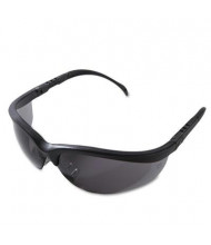 MCR Safety Crews Klondike Safety Glasses, Matte Black Frame with Gray Lens
