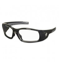 MCR Safety Crews Swagger Safety Glasses, Black Frame with Clear Lens