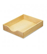 "Carver 2-1/4"" H Hardwood Stackable Letter Tray, Oak"