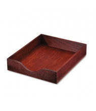 """Carver 2-1/4"""" H Hardwood Stackable Letter Tray, Mahogany"""