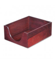 "Carver 5"" H Hardwood Stackable Letter Tray, Mahogany"