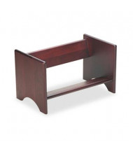 "Carver 10"" H Wooden Binder Rack, Mahogany Finish"